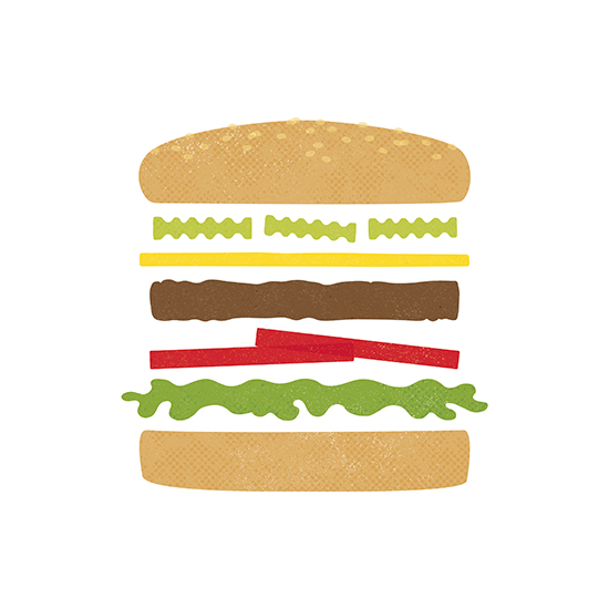 art prints - Burger Basics by Cailyn Matley