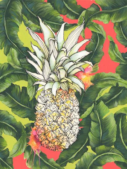art prints - Pineapple Loving by Lauren Roth