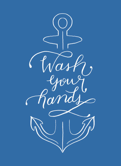 art prints - Wash Your Hands by Barney Design