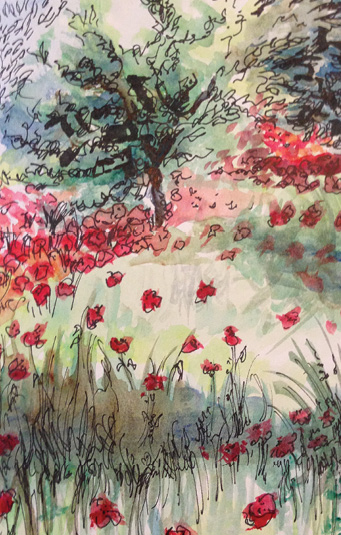 art prints - Poppies for Days by Sara Marie