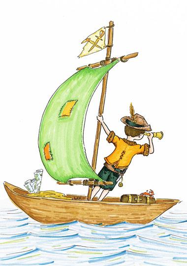 art prints - Sailing the High Seas by Laura Ansley Koerner