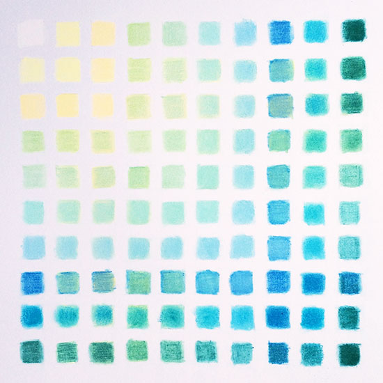 art prints - Color Study in Blue by Sarah Nobles