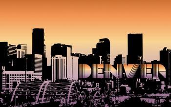 Denver Sky Line at Sunset