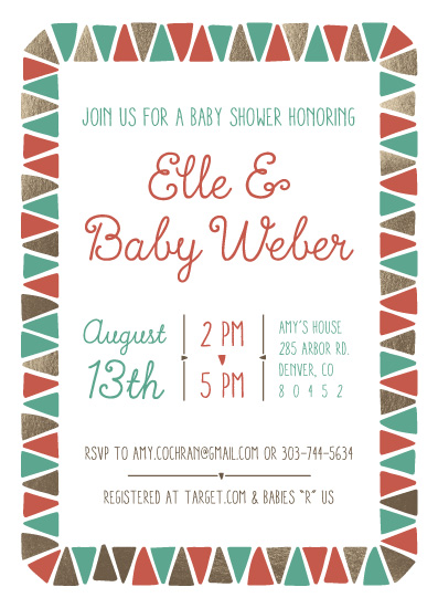 baby shower invitations - Adding to the Tribe by Lisa Weber