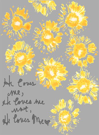 art prints - Love Me Love Me Not by Kim Gann