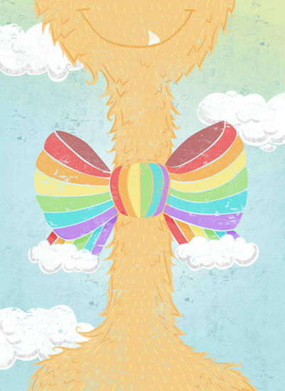 art prints - Monster Rainbow tie by Sara Felt
