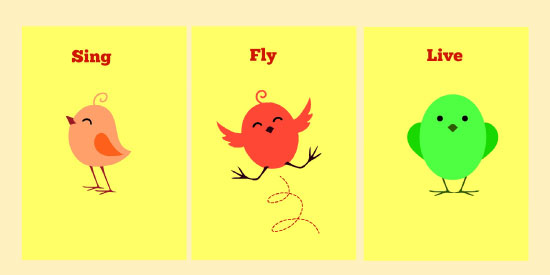 art prints - Sing, Fly, Eat by Anubha