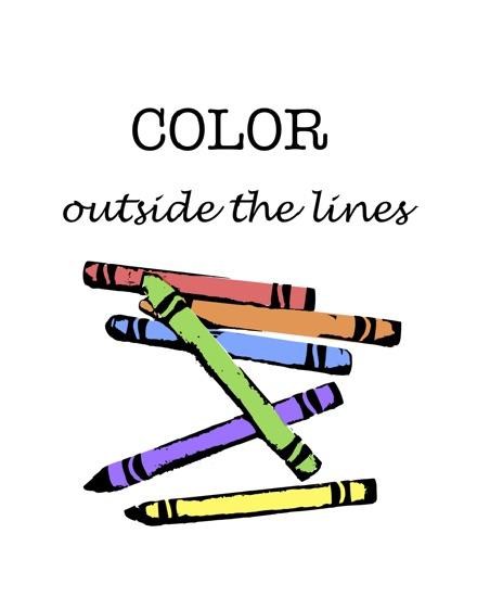 art prints - color outside the lines by Carmelina Faraci