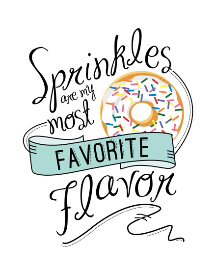 art prints - Sprinkles by Thoroughly Curly Designs