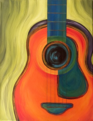 art prints - Got My First Real Six String by Playful Paints LLC