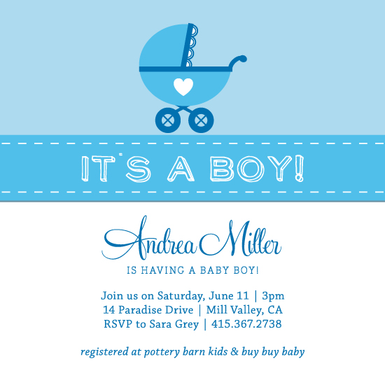 baby shower invitations - It's a Boy! by jellyjollyho