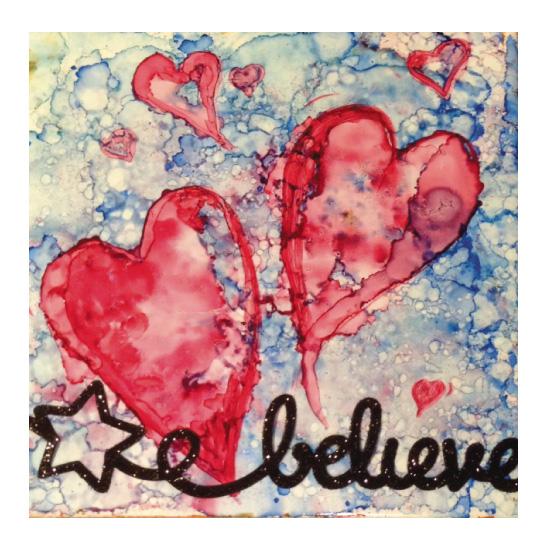 art prints - Believe In Your Heart by YakiArtist