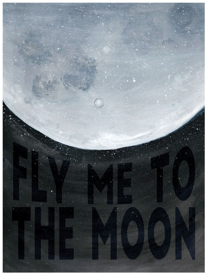 art prints - Fly Me To The Moon by Kate Bond