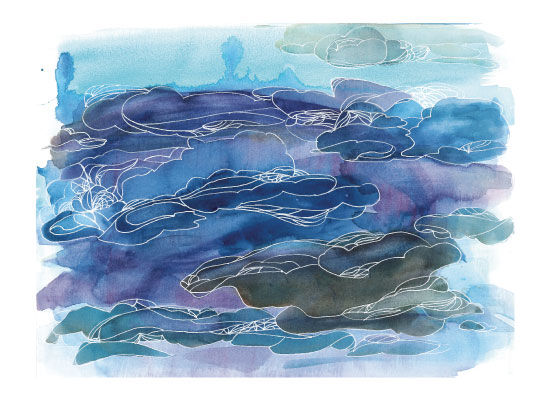 art prints - Cloud Lines: Dawn by Island Art and Soul