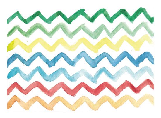 art prints - Rainbow Chevrons by Island Art and Soul