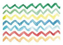 Rainbow Chevrons by Island Art and Soul