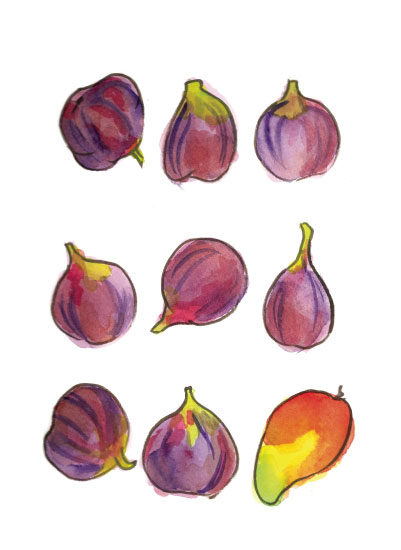 art prints - Figs and a Mango by Island Art and Soul