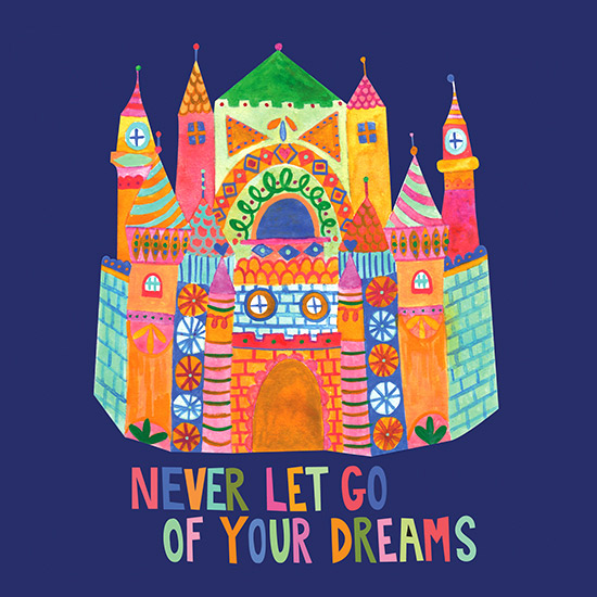 art prints - Never let go of your dreams by Julz Nally