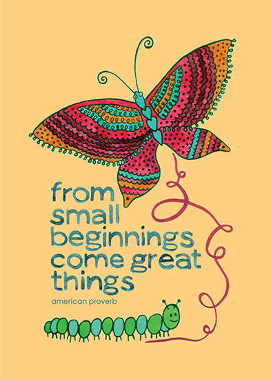 art prints - Small Beginnings by Julz Nally