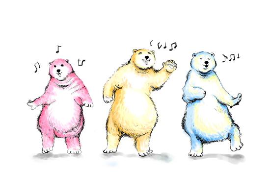art prints - Boogie Bears by Shom Teoh