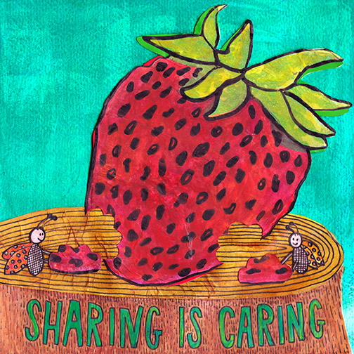 art prints - Sharing is Caring by Julz Nally