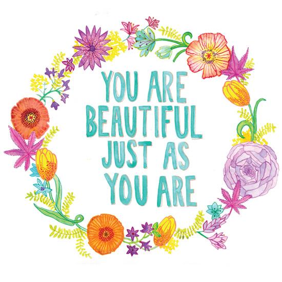 art prints - You Are Beautiful by Julz Nally