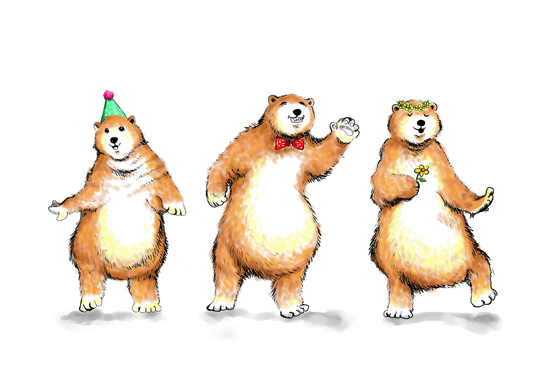 art prints - Boogie Bears Party Version by Shom Teoh