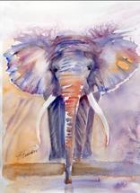Elephant Power by Ellen Evanow Watercolors