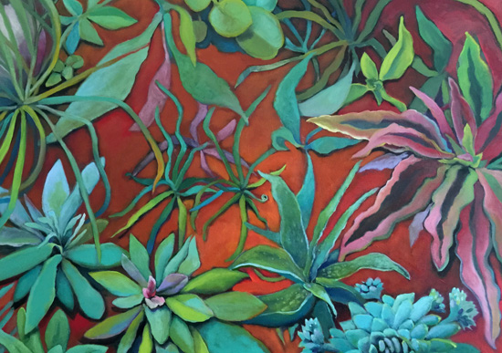 art prints - Desert Garden by Jeanne Hollington