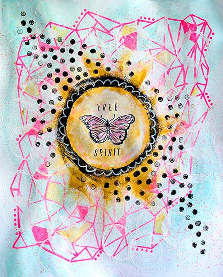 art prints - Free Spirit Fly by Emily Burlingame