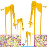 Giraffes' new toy by Patricia Robitaille