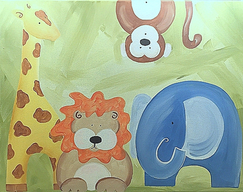 art prints - Welcome to the Jungle by Playful Paints LLC