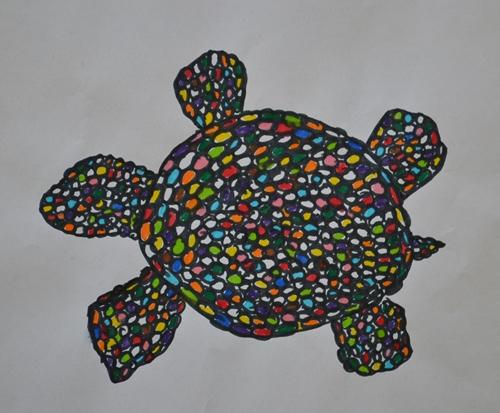 art prints - Mosaic Turtle by Daniela Baccini Spacilova