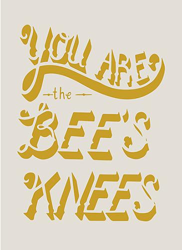 art prints - Bee's Knees by Monique Aimee