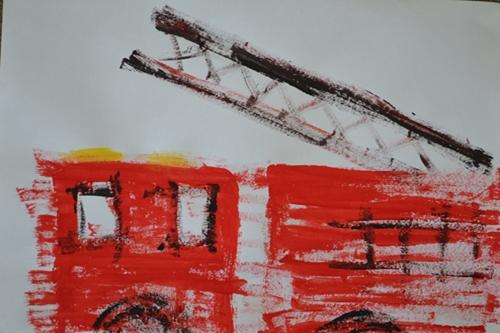 art prints - Calling All Firemen by Daniela Baccini Spacilova