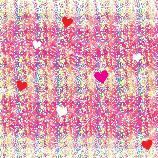 art prints - Bubbly Confetti Hearts by Madeleine