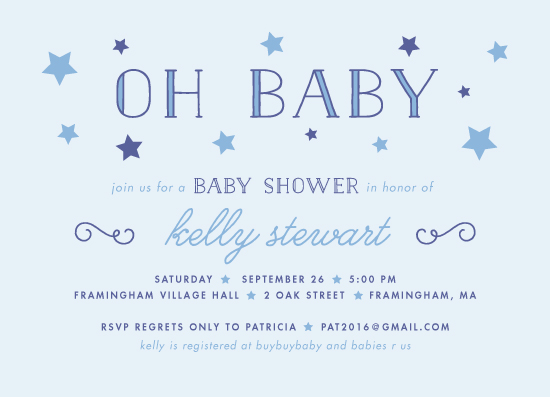 baby shower invitations - Starry Shower by sparky