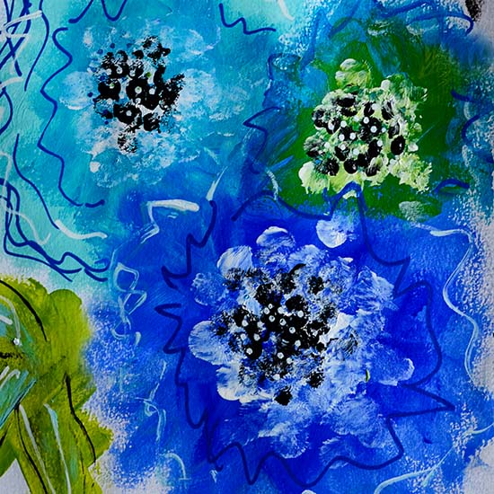 art prints - Blue Bloom by Emily Burlingame