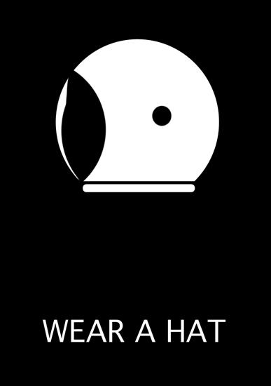 art prints - Wear a Hat - Space Helmet by Rankin Willard