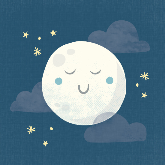 art prints - Goodnight moon by Annie Holmquist