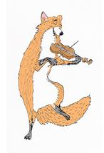 F is for Fox on Fiddle by Lia-Lucine Cary