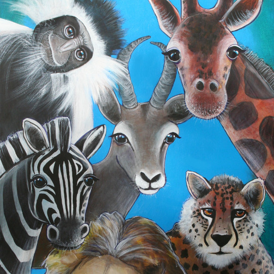 art prints - JUNGLE ANIMAL FRIENDS by Selinah Bull