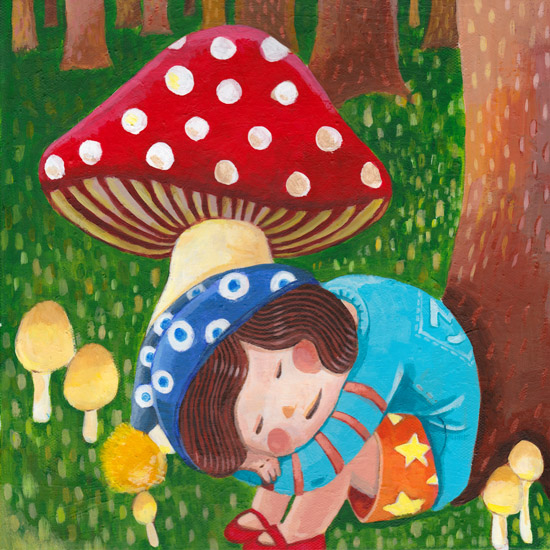 art prints - Return to the Mushroom Kingdom by Jingwen Ma