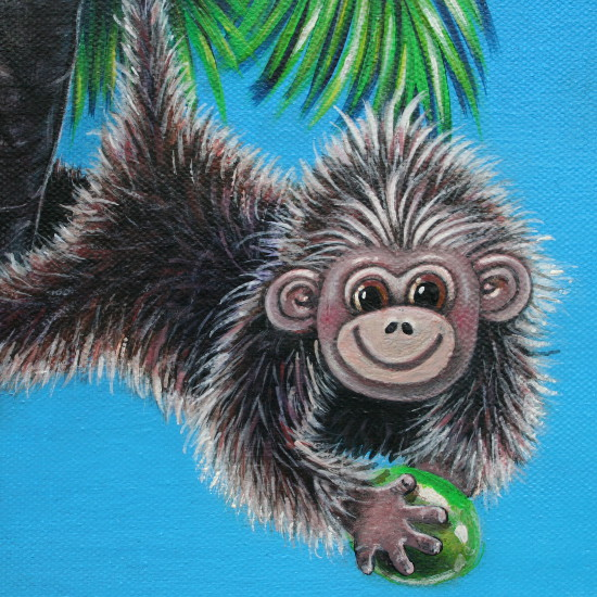 art prints - CHEEKY MONKEY {DETAIL} by Selinah Bull