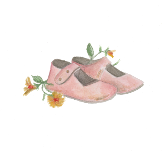 art prints - Pink Mary Janes by Julie and Sara
