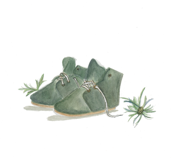 art prints - Olive Hi-Tops by Julie and Sara