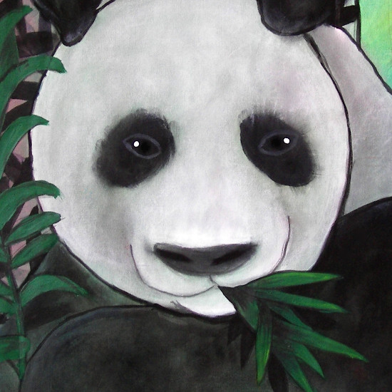 art prints - PANDA {DETAIL} by Selinah Bull