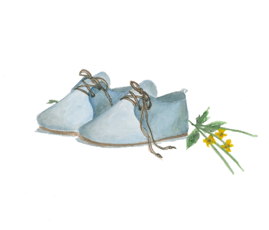 art prints - Teal Lace-Ups by Julie and Sara