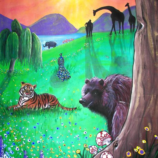 art prints - CREATION MURAL {DETAIL} by Selinah Bull