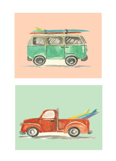 art prints - Surf's Up! by Roxanne Fay